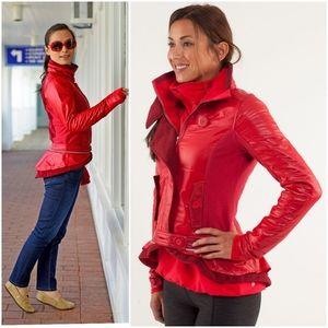 Rare Lululemon Pedal Power Jacket Currant Red